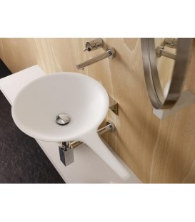 Lavabo Bathco Saja 66xØ42 cm Solid Surface blanco