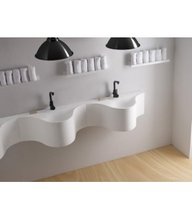 Lavabo Bathco Monty 80x42,5 cm Solid Surface blanco