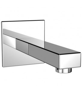 Caño de pared Galindo rectangular níquel