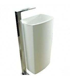 Lavabo Krion SystemPool SP Concept desagüe pared blanco