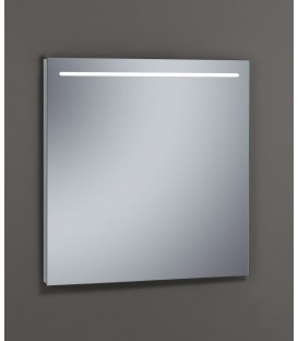 Espejo Design Glass Line con luz LED interior 80x80 cm