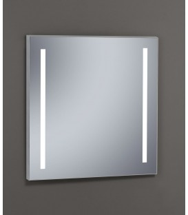 Espejo Design Glass Duo con luz LED interior 100x80 cm
