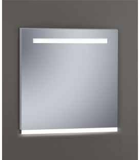 Espejo Design Glass Fuji con luz LED interior 80x80 cm
