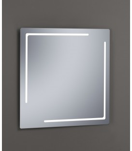 Espejo Design Glass Etna con luz LED interior 80x80 cm