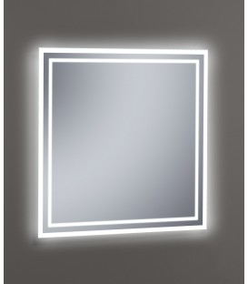 Espejo Design Glass Amazonia con luz LED interior 100x80 cm