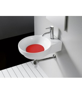 Tapa color para lavabo Bathco Marsella rojo