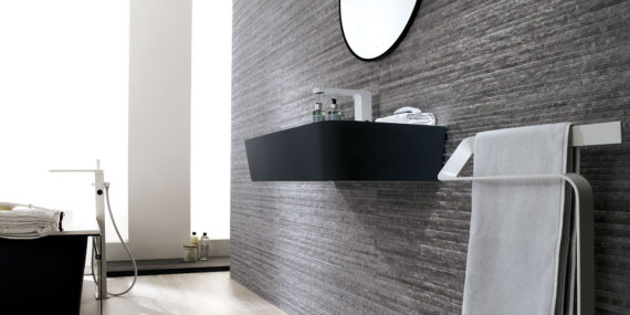 Lavabo suspendido de Solid Surface